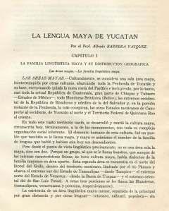 La Lengua Maya de Yucatán